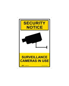 Security Notice Surveillance Cameras In Use 300mm x 450mm - Polypropylene