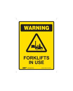 Forklifts In Use 225mm x 300mm - Polypropylene