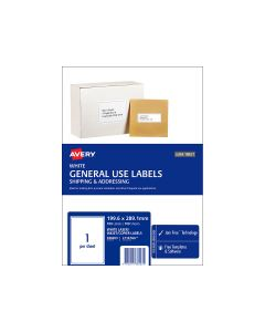 Avery A4 Labels 199.6mm x 289mm