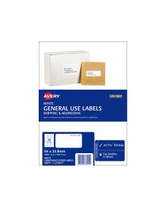 Avery A4 Labels 64mm x 33.8mm