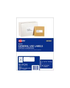 Avery A4 Labels 64mm x 26.7mm