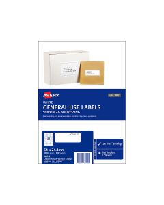 Avery A4 Labels 64mm x 24.3mm