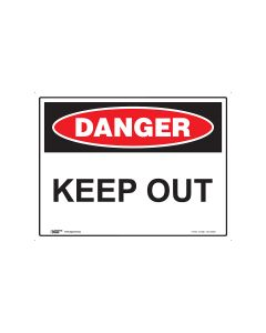 Danger Keep Out 600mm x 450mm - Metal