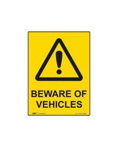 Beware Of Vehicles 600mm x 450mm - Metal