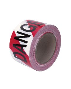 Barrier Tape - Danger Do Not Enter - Red/White - 75mm x 100m