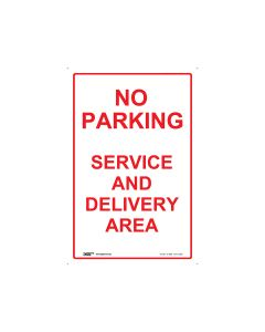 No Parking Delivery Area 300mm x 450mm - Polypropylene