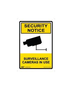 Surveillance Cameras In Use 180mm x 250mm - Self Sticking Vinyl