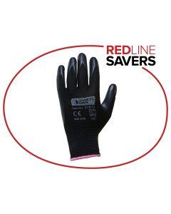 Signet's Own Foam Nitrile Gloves -Black Size 6 (12 pairs per carton)