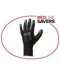 Signet's Own Foam Nitrile Gloves - Black Size 9 (12 pairs per carton)