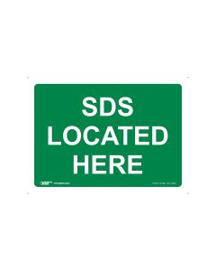 MSDS Located Here 250mm x 180mm - Self Sticking Vinyl