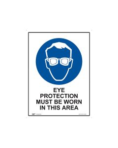 Eye Protection Must Be Worn 450mm x 600mm - Metal