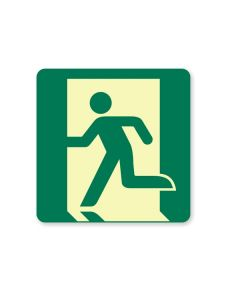 Exit Man 180mm x 180mm - Luminous Self Sticking Vinyl
