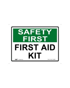 Safety First First Aid Kit 250mm x 180mm - Self Sticking Vinyl