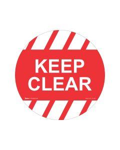 Keep Clear Sign - 440mm Self Sticking Vinyl