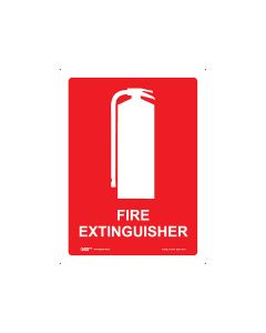 Fire Extinguisher 300mm x 225mm - Metal