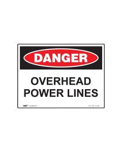 Danger Overhead Powerline 600mm x 450mm - Metal