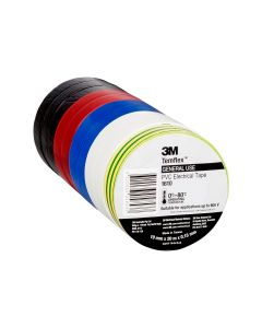 3M Temflex 1610 Electrical Tape 19mm x 20m - Mixed Pack