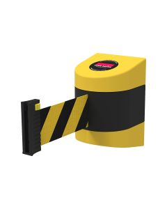 Neata Wall Mount Barrier Belt Black/Yellow 10m