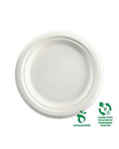 "Biocane Compostable Plates - 7"" (125 per pack)"