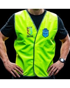 Official NSW State of Origin Safety Vest Non-Reflective Large