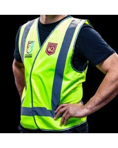 Official QLD State of Origin Safety Vest Reflective X-Large
