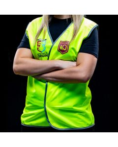 Official QLD State of Origin Safety Vest Non-Reflective Large