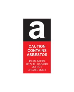 Asbestos Self-Stick Vinyl Labels - 40mmx80mm (15 per pack)