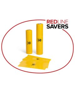 Clinical Waste Bag 800mm x 1040mm x 50um (150 per roll) - Yellow