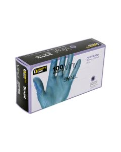 Signet's Own Vinyl Gloves Powdered - Blue, Small (100 gloves per box)
