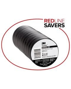 3M Temflex 1610 Electrical Tape 19mm x 20m - Black