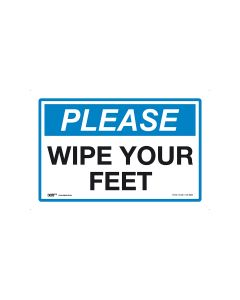 Please Wipe Your Feet 450mm x 300mm-Polypropylene
