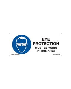 Eye Protection Must Be Worn In This Area-330mm x 140mm Polypropylene