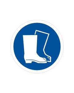 Mandatory Decal Foot Protection-150mm x 150mm (10 per pack)