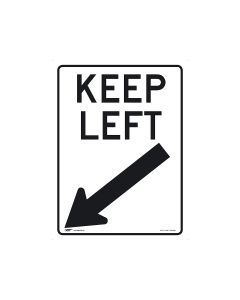 Keep Left 450mm x 600mm-Metal