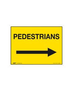 Pedestrians (arrow right) 600mm x 450mm-Coreflute