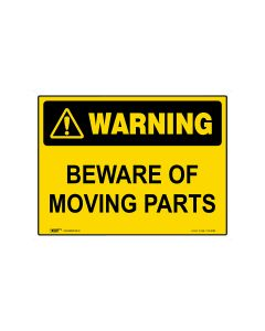 Beware Of Moving Parts 600mm × 450mm - Metal