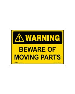 Beware Of Moving Parts 450mm × 300mm - Metal