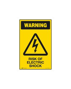 Risk Of Electric Shock 300mm × 450mm - Metal