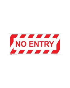 No Entry 420mm x 160mm