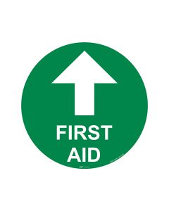 First Aid Arrow Up 440mm x 440mm