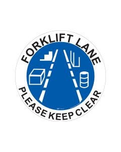 Forklift Lane Please Keep Clear 440mm x 440mm