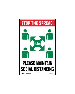 Stop The Spread Sign 300mm x 450mm - Polypropylene