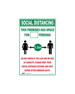 This Premise Has Space Sign 300mm x 450mm - Polypropylene
