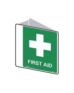 Emergency Information - First Aid 225mm x 225mm - Polypropylene