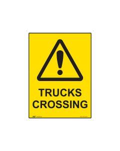 Trucks Crossing 600mm x 450mm - Coreflute