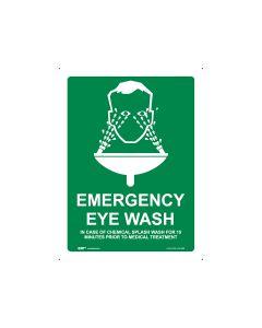 Emergency Eye Wash 450mm x 600mm - Metal