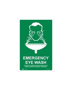 Emergency Eye Wash 300mm x 450mm - Metal