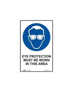Eye Protection Must Be Worn 300mm x 450mm - Polypropylene