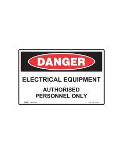Danger Electrical Equipment 300mm x 225mm - Polypropylene