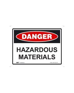 Danger Hazardous Materials 300mm x 225mm - Polypropylene